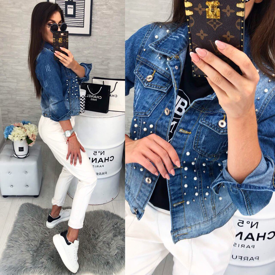 40efc9f0d4b Джинсовая куртка женская - YUNA-SHOP интернет-магазин одежды от  производителя в Одессе