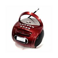 Портативная колонка бумбокс Golon RX 186 MP3 USB радио приёмник красный