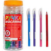 """Ручка олійна """"1 вересня"""" 411079 """"Soft Touch"""" синя"""