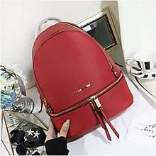 Рюкзак, портфель Майкл Корс в червоному кольорі, натуральна шкіра