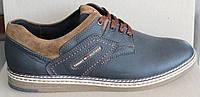 Туфли мужские кожаные спортивные, мужские туфли кожа от производителя модель И85-2