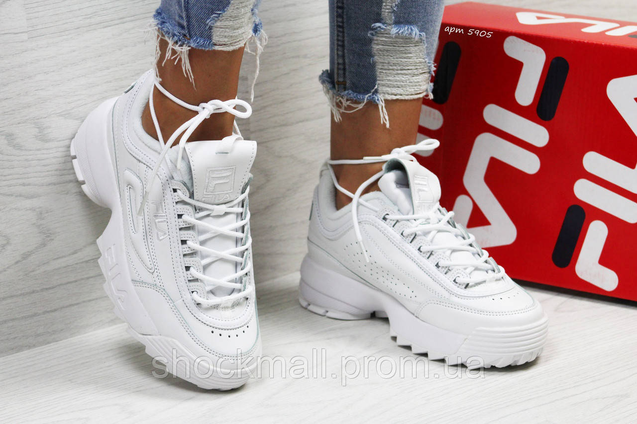 ee834ce400e3 Модные кроссовки женские Fila белые Вьетнам - Интернет магазин ShockMall в  Киеве