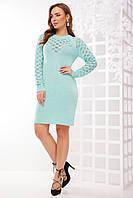 Женское вязаное платье на осень 150