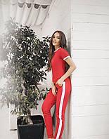 Летний женский костюм Ле 1/11. Размер S-M красный, черный