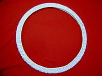 Чехол для обруча узкий, сиреневый, велюр, фото 1