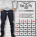 "Штаны мужские черные от бренда  Feel&Fly модель ""CHINOS SKINNY BLACK"", фото 5"
