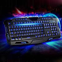 Игровая проводная русская клавиатура M200 с подсветкой USB для ПК компьютера, фото 1