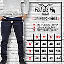 Штаны чиносы мужские синие Скинни Блэк (SKINNY BLACK) от бренда  Feel and Fly размер M, L, XL, XXL, фото 5