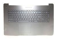 Оригинальная клавиатура для ноутбука Asus N750JV, N750JK, R750JV series, передняя панель, silver, подсветка