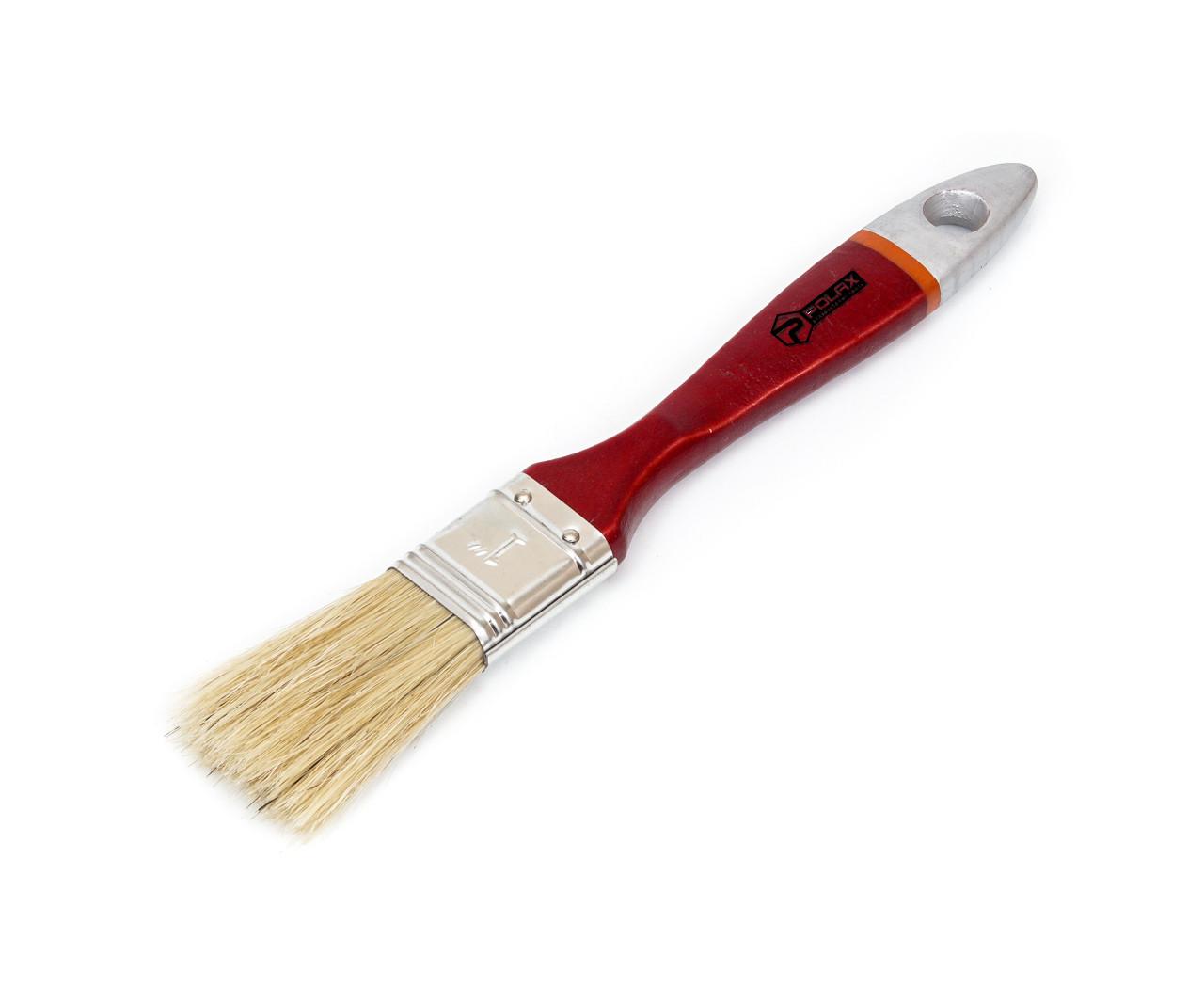 """Кисть плоская Polax Евро 1.5"""" (14-002) деревянная ручка"""