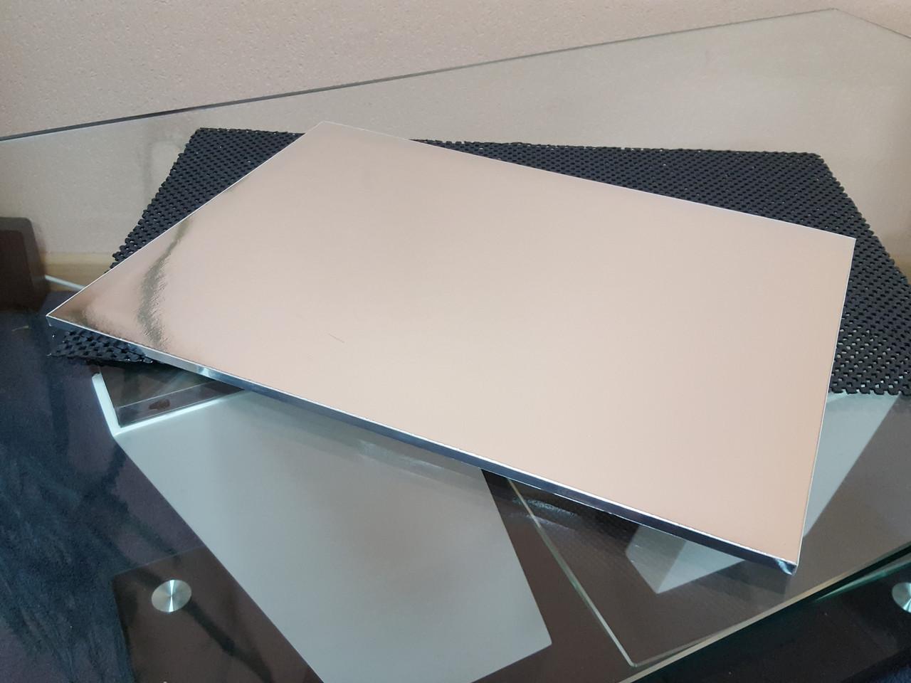Підкладка під торти ущільнена срібло (8мм)450х650 мм