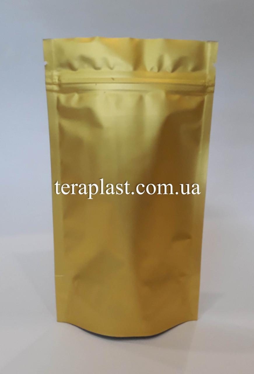 Дой-Пак 50г золото 100х170 с зип замком