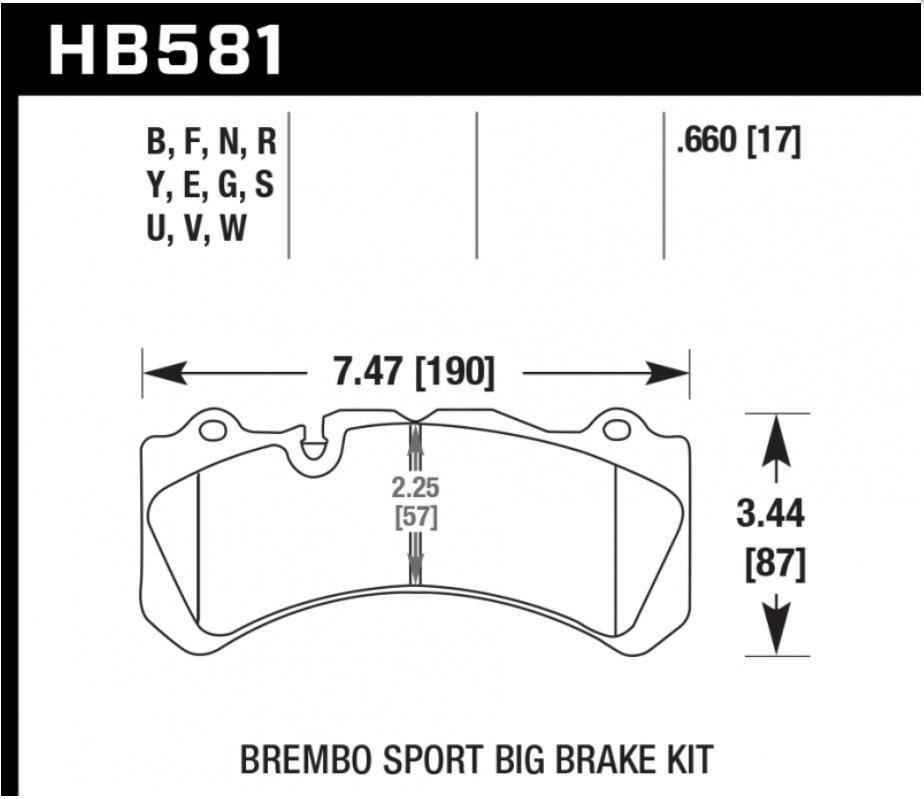 Колодки тормозные передние  HAWK HPS для системы Brembo GTR для Toyota LC 200 / LX 570