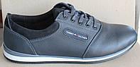 Туфли мужские кожаные спортивные, мужские туфли кожа от производителя модель И87-2
