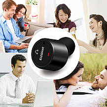 Спортивные наушники-вкладыши Bluetooth 4.2 с микрофоном пара черные, фото 2