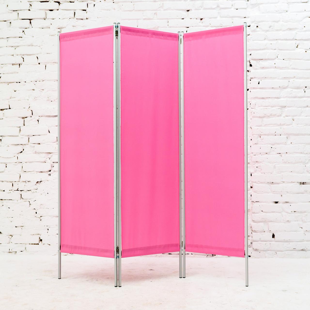 Ширма косметологическая розовая 150х180см