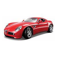 Автомодель - ALFA 8C COMPETIZIONE (2007) красный металлик, 1:32 (18-43004)