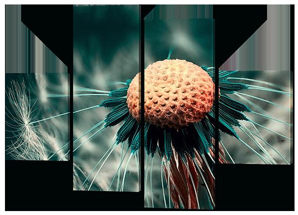 Стильная модульная картина Одуванчик