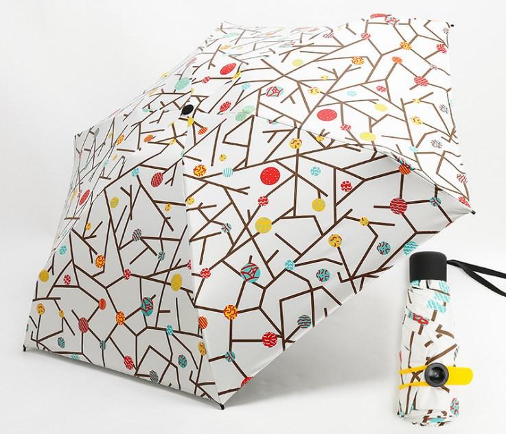 Зонт маленький разноцветные горошины