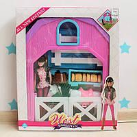 Набор игровой Барби: Лошадь, кукла, сено, вилы, лопата в кор. 51*42*7,5