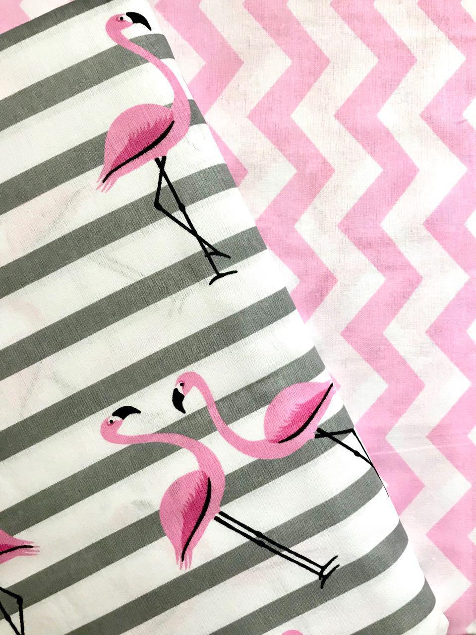 Постельное белье полуторное Фламинго (100 % хлопок)