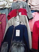Дитяча кофта з хутряними кишенями, фото 2