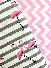 Постельное белье полуторное Фламинго(100 % хлопок)