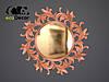 Зеркало настенное Varna в серебряной раме, фото 7