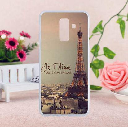 Оригинальный чехол накладка для Samsung A6 Plus 2018 Galaxy A605f с картинкой Париж