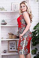 Платье Польша Размеры 50-52-54-56 Цвет красный