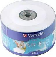 VERBATIM CD-R 700Mb 52x Wrap 50 pcs Printable 43794