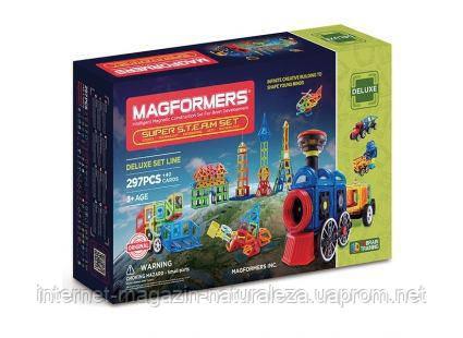 Магнитный конструктор Magformers Супертранспорт  297 элементов, фото 2