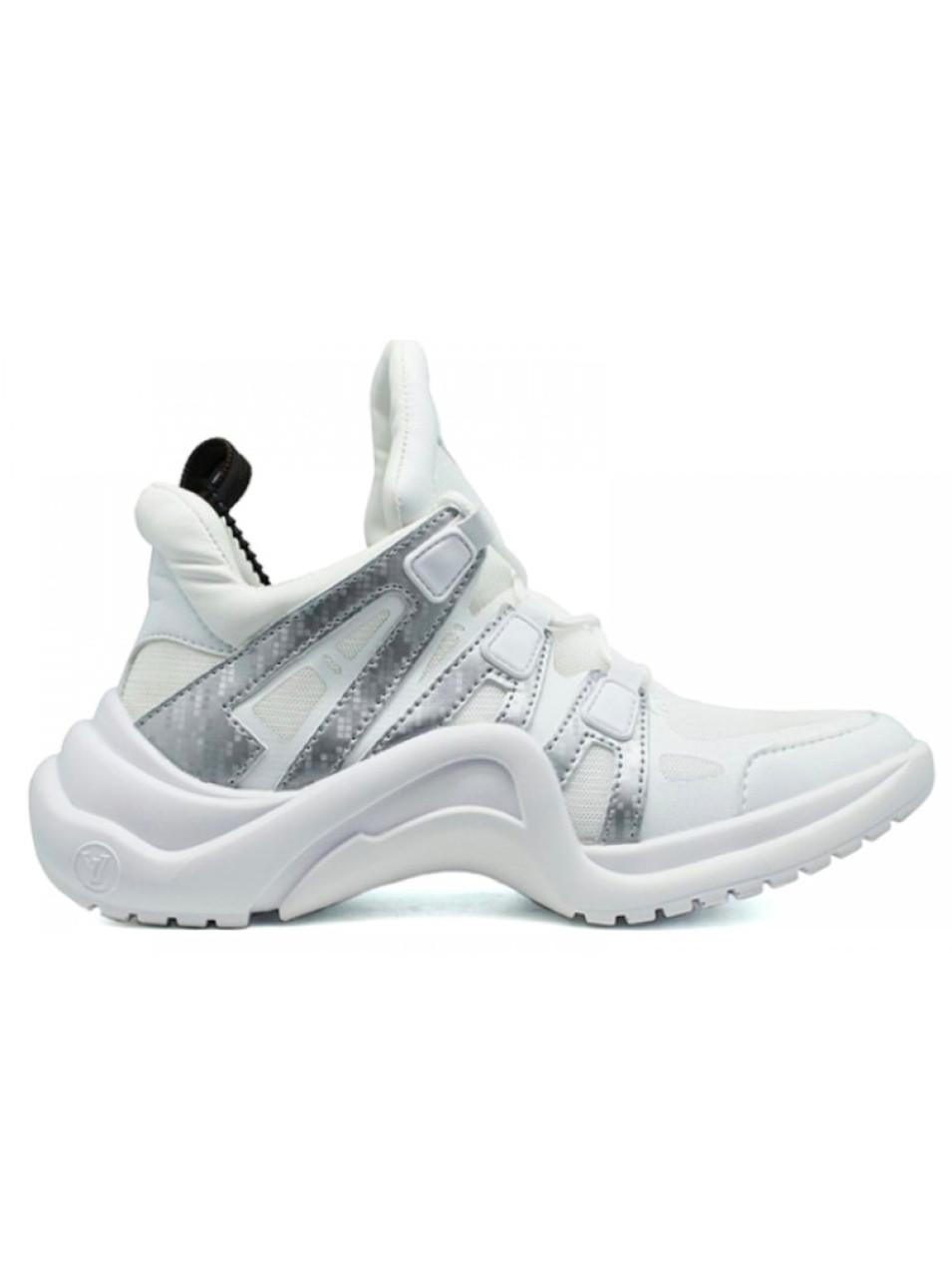 4fa624aeca4b Мужские кроссовки LV Louis Vuitton Archlight белые с серебром - Интернет  магазин krossovkiweb.kiev.