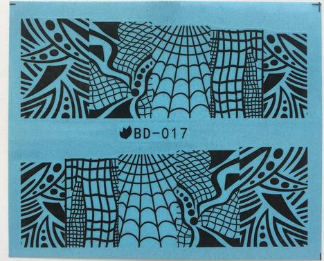 Слайдер-дизайн для ногтей BD-017 6.2*5.2 см