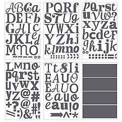 Декоративные наклейки IKEA KLÄTTA серые буквы 403.294.39