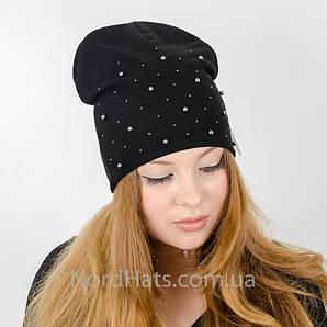 """Удлиненная двойная шапка  """"Молли"""", (Черный)"""