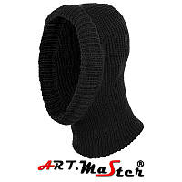 Зимняя шапка вязаная балаклава ARTMAS черного цвета CzKOM2 kominiarka  czarna