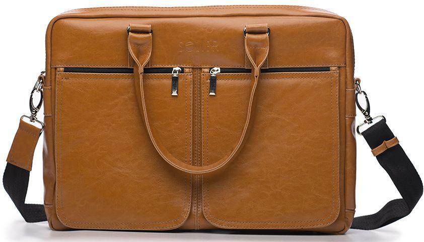 f6757c1e5b41 Мужская сумка для ноутбука 17' Solier SL01 Camel — только ...