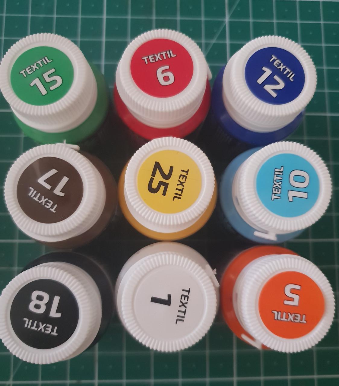 Набор красок акриловых для росписи ткани, Rosa Talent, 20 ml. 9 штук