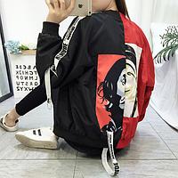 Куртка бомбер женская Dali красная