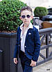 Костюм шкільний для хлопчика піджак+штани костюмна тканина розміри 134-140, фото 2