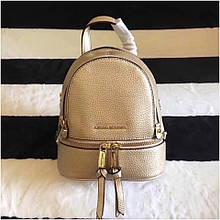 Рюкзак, портфель Майкл Корс міні у золотому кольорі, натуральна шкіра