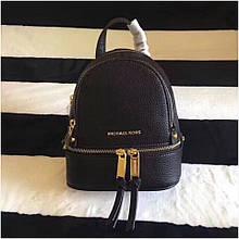Рюкзак, портфель Майкл Корс міні, в чорному кольорі, натуральна шкіра