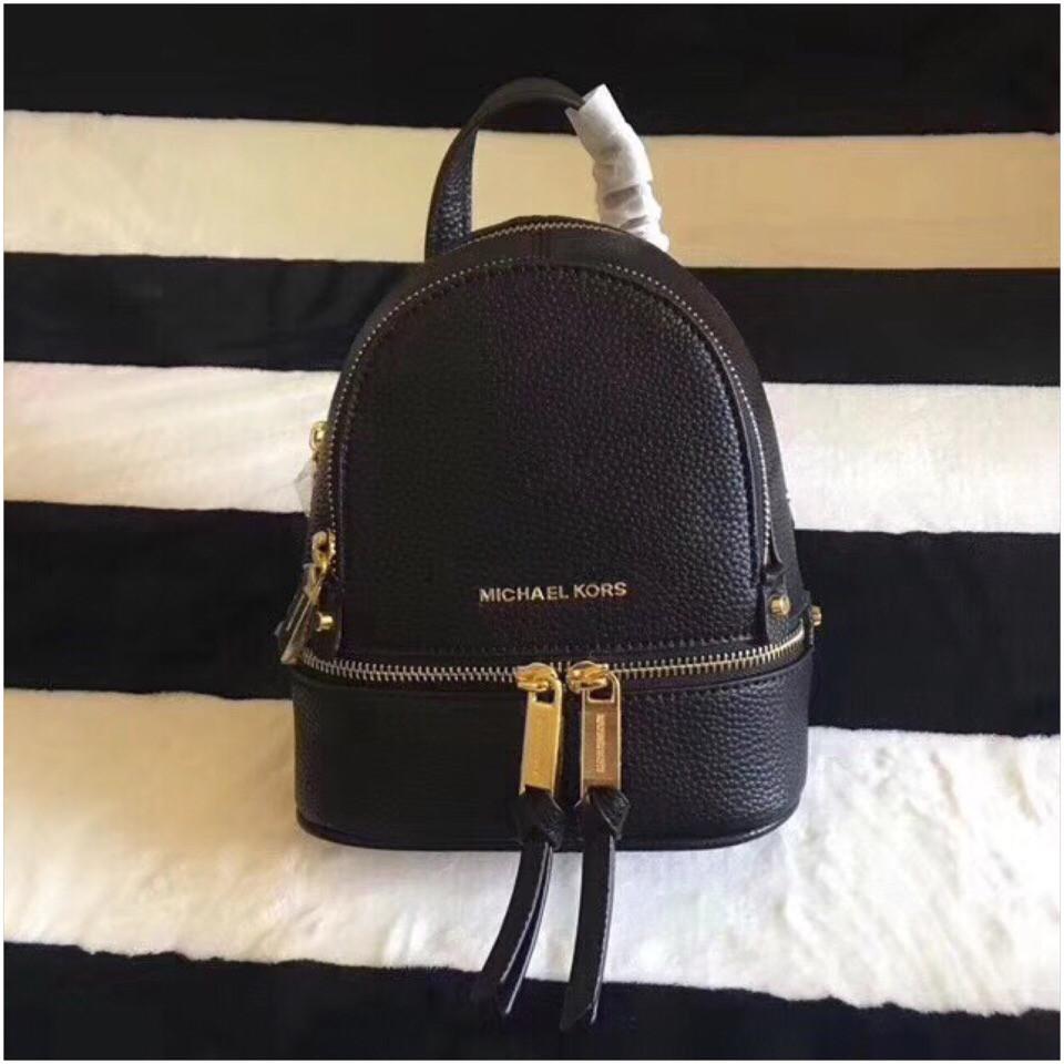 13757d96ac56 Кожаный рюкзак МК, мини, портфель Майкл Корс, в черном цвете - Annashop.
