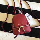 Рюкзак, портфель Майкл Корс мини в красном цвете, натуральная кожа, фото 2