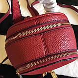 Рюкзак, портфель Майкл Корс мини в красном цвете, натуральная кожа, фото 3