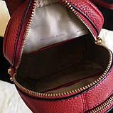 Рюкзак, портфель Майкл Корс мини в красном цвете, натуральная кожа, фото 4