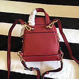 Рюкзак, портфель Майкл Корс мини в красном цвете, натуральная кожа, фото 5