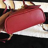 Рюкзак, портфель Майкл Корс мини в красном цвете, натуральная кожа, фото 6