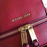 Рюкзак, портфель Майкл Корс мини в красном цвете, натуральная кожа, фото 8